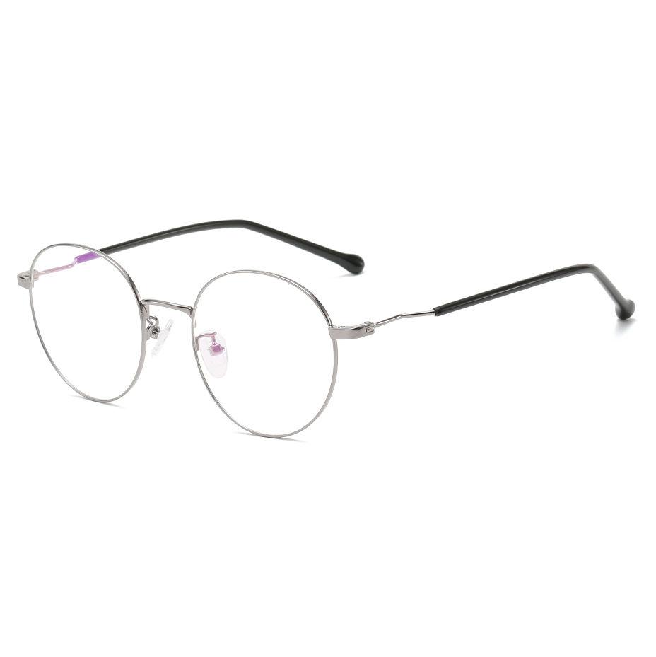 EUGENIA OEM Design Fashion Plastic Women Round Stainless Eyeglasses Optical Frames
