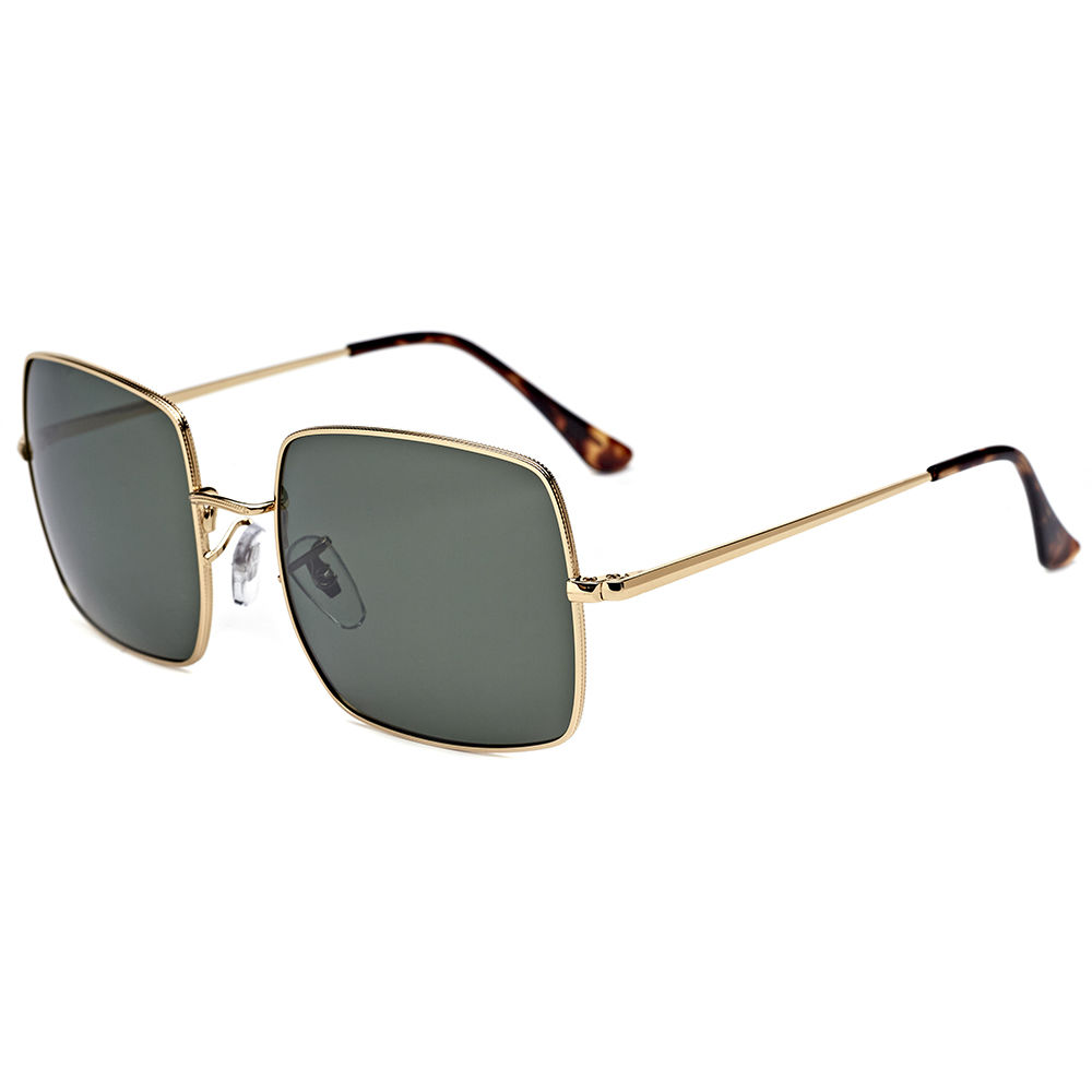 EUGENIA 2020 Square Lens Metal Stainless 1.1mm Polarized Sunglasses