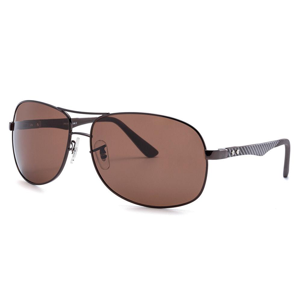 EUGENIA 1.1mm Polarized Square Lens TR90 Stainless Metal Frame Sunglasses