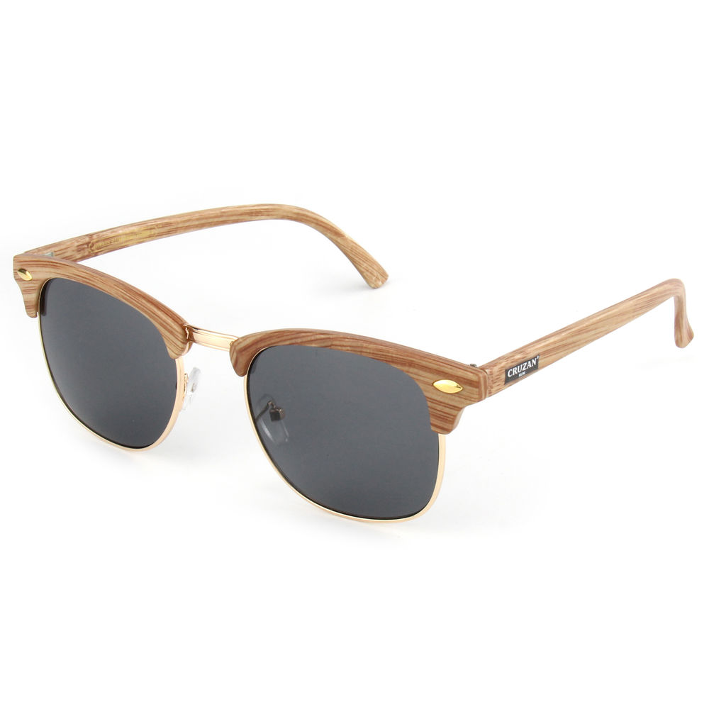 EUGENIA Classic Wooden Design Custom Logo Printed UV400 Protection Unisex Sunglasses