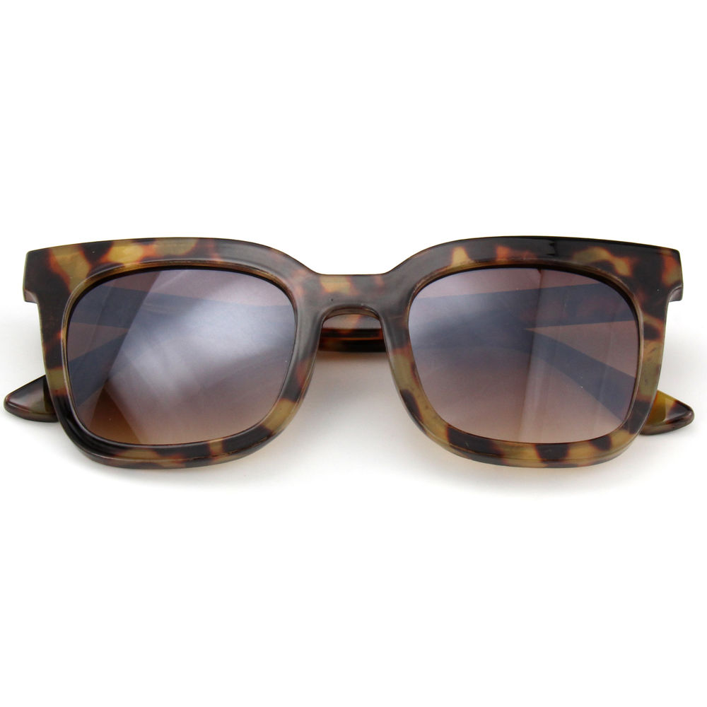 EUGENIA Square Shape Brown Tortoise Gradient Lens High Quality Women Sunglasses