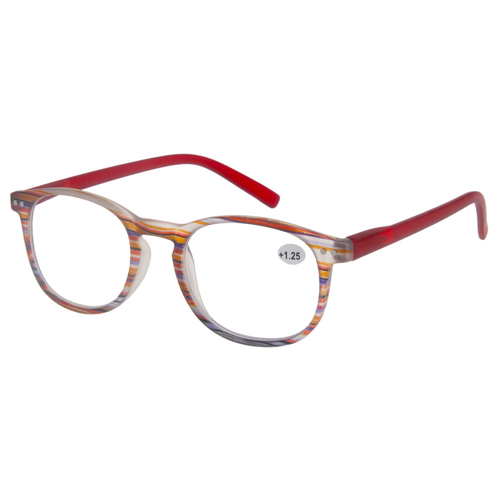 EUGENIA Cheap Plastic Round Pattern Reading Glasses