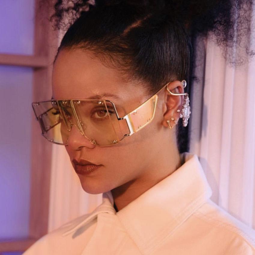 EUGENIA Rivet Fashion Four Lenses Wrap Glasses 2020 Big Square Frame Oversized Sunglasses
