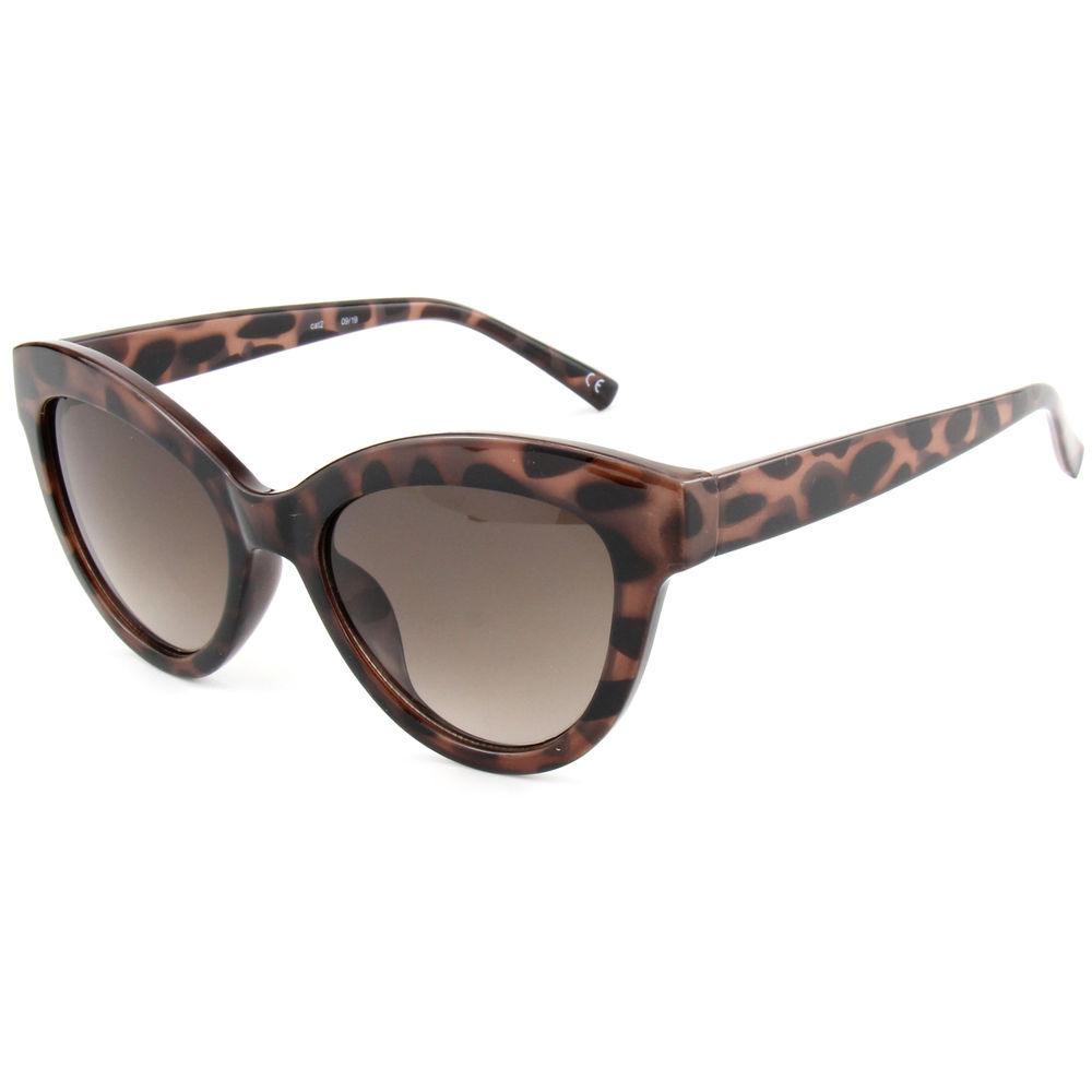 EUGENIA Large Frame Big Cat Eye Brown Tortoise Stylish Italy Design Sunglasses