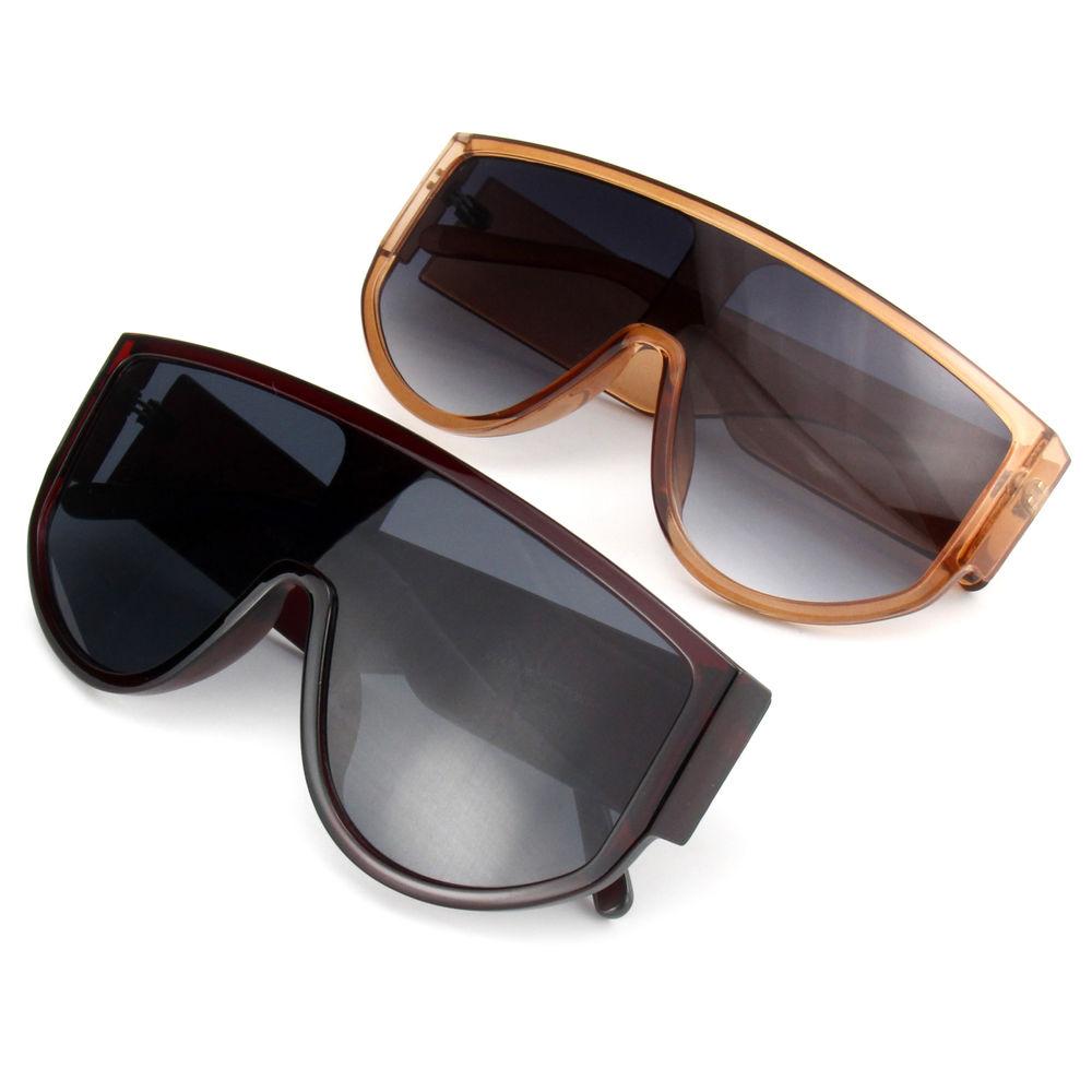 EUGENIA Oversize Wholesale One Piece Lens Big Frame Designer Unisex Sunglasses