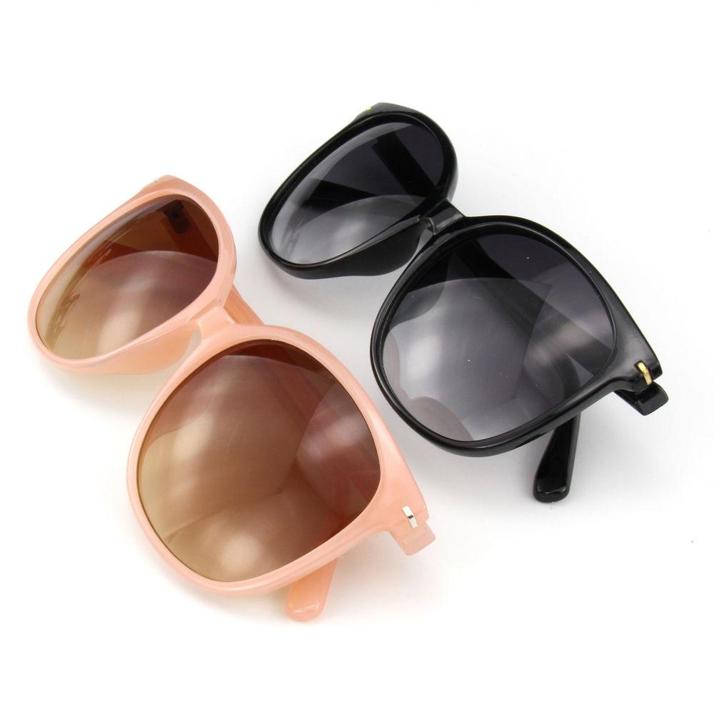 EUGENIA Hot Selling Large Frame Simple Design Oversize Women Custom Logo Sunglasses
