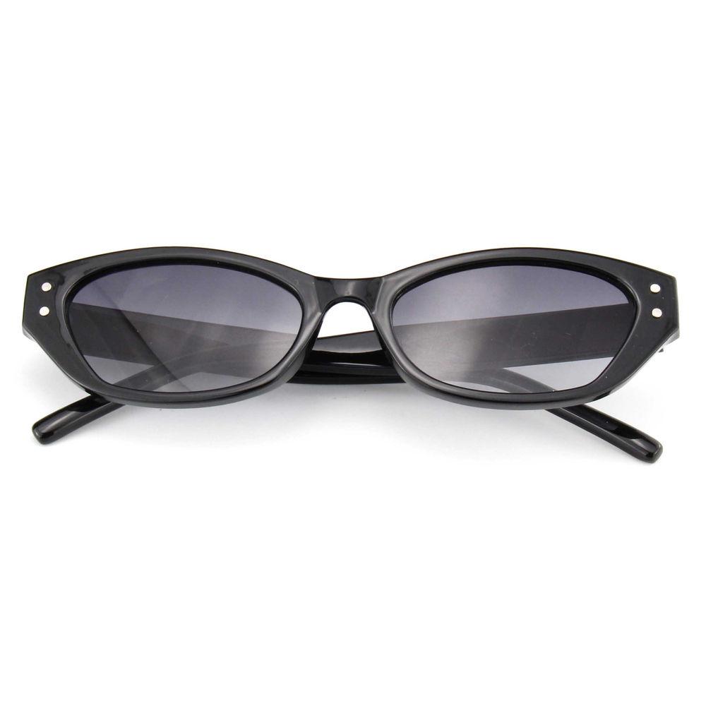 EUGENIA Small Frame Black Cat Eye Shape Diamond Shining Women Sunglasses