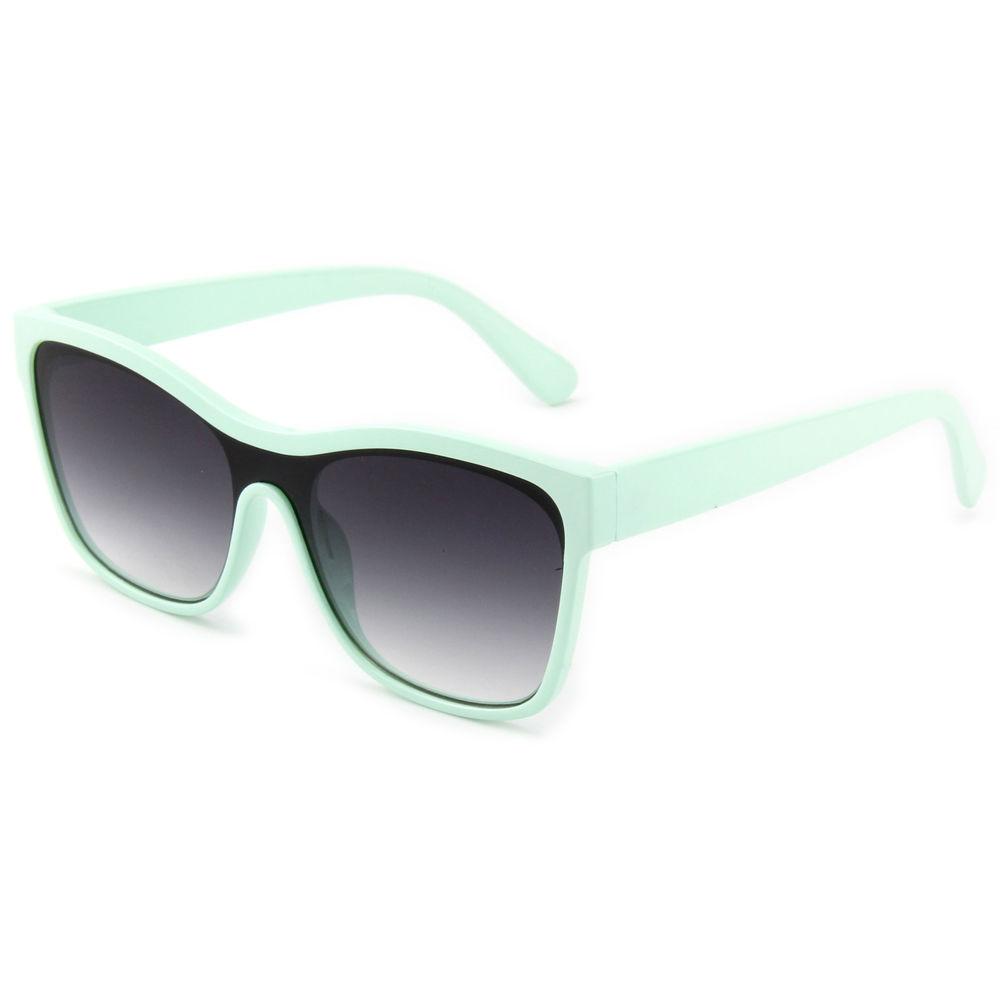 EUGENIA Good Quality Stylish One Piece Lens Green Sunglasses Fashion Eyewear
