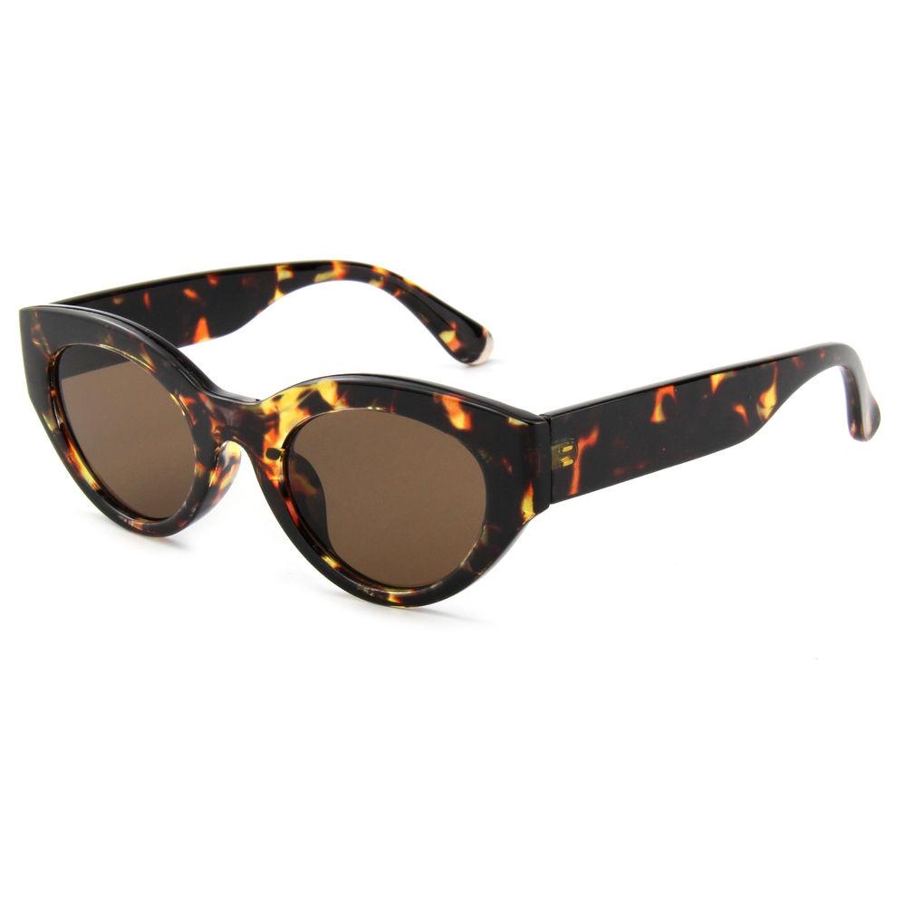 EUGENIA 2021 Popular Small Shade Unique Design Oval Cat Eye Sunglasses