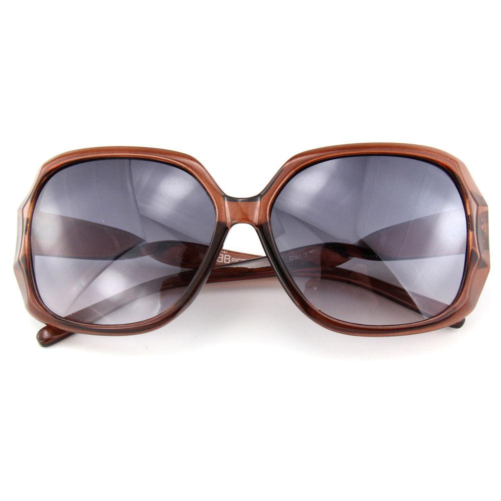 EUGENIA Oversize Unique Special Design Brown Wine China Factory Fashion Women Sunglasses