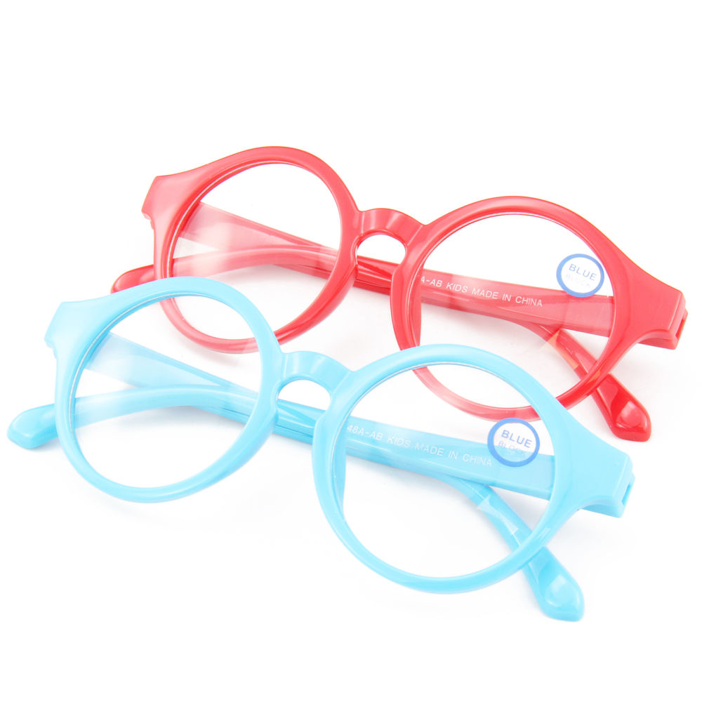 EUGENIA Soft Colorful Kids Anti Blue Computer Game Blue Light Blocking Glasses