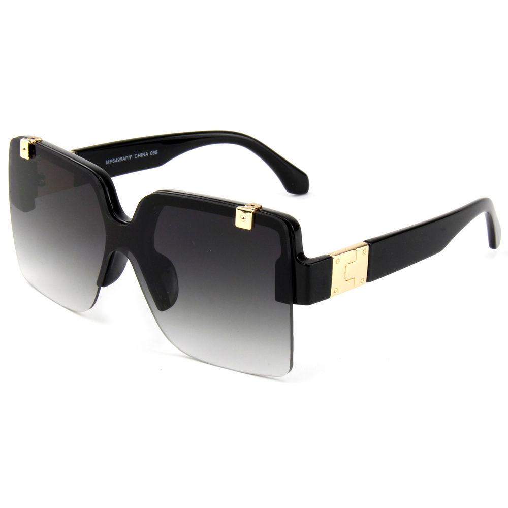 EUGENIA Women Trendy High Quality Custom Oversize Wholesale Women Fashion Style Flat Top Sunglasses