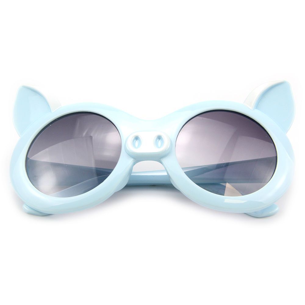 EUGENIA2021 Special Shape Cute Pig Blue UV Protection Kids Sun Glasses