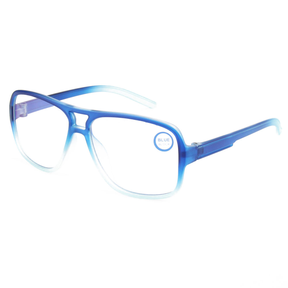 EUGENIA custom logo plastic blue ray blocking reading sunglasses