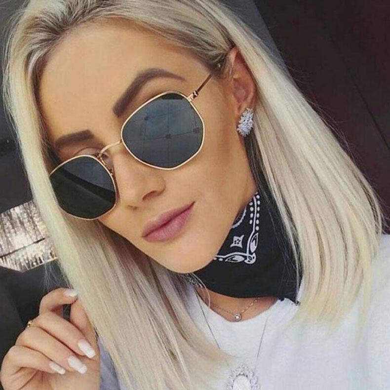 EUGENIA Hexagon Metal Frame Women Men Retro Vintage Fashion Sunglasses