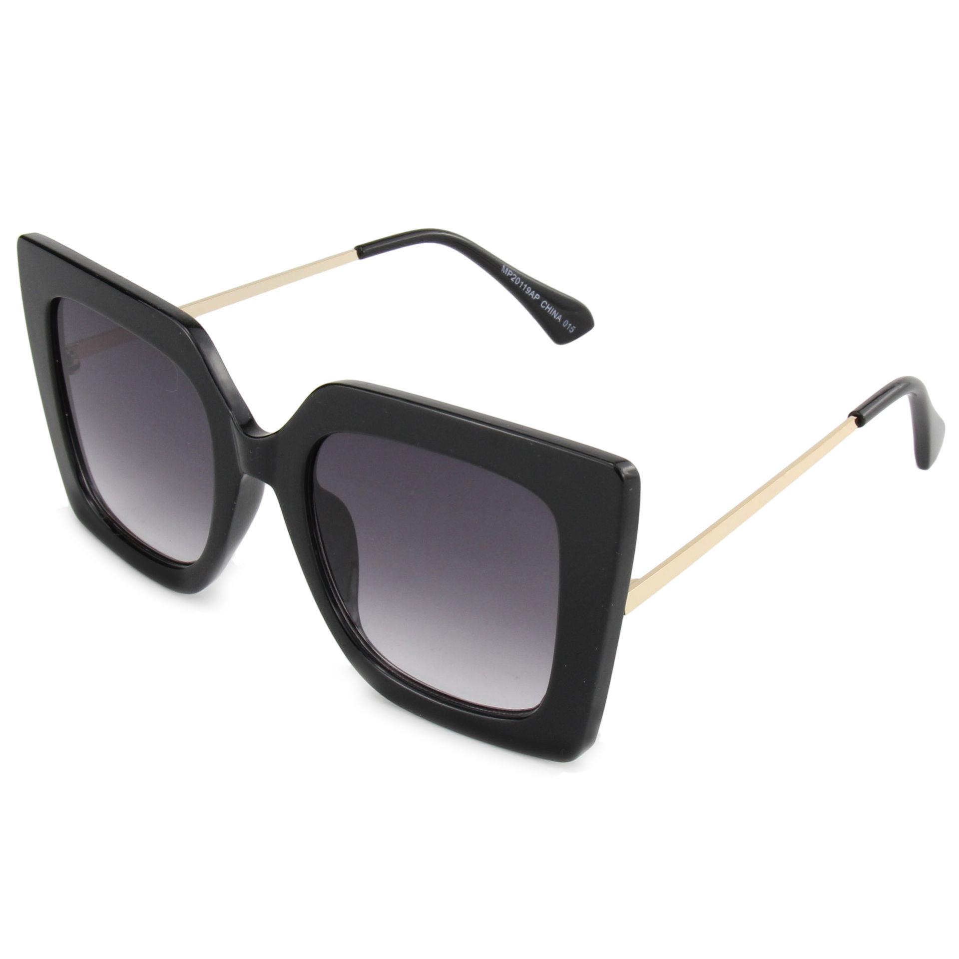 EUGENIA New fashion square sunglasses women high quality shade pc metal sunglasses 2020 2021