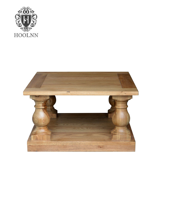 Balustrade French Antique Solid Wood Coffee Table HL290-80