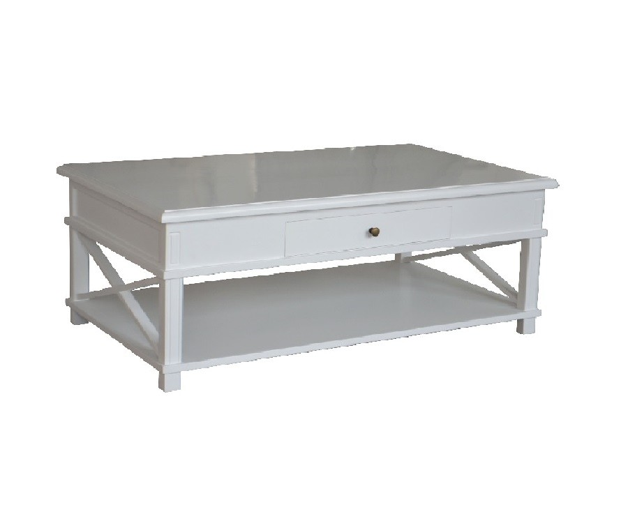White Solid Wood Coffee Dining Table Combination