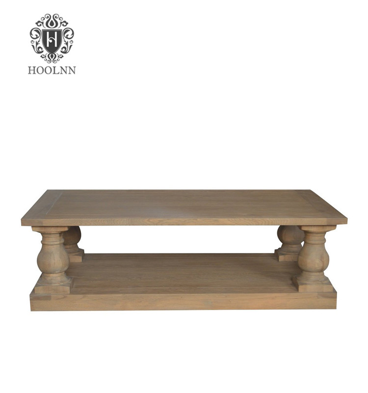 Balustrade French Antique Solid Wood Coffee Table HL290