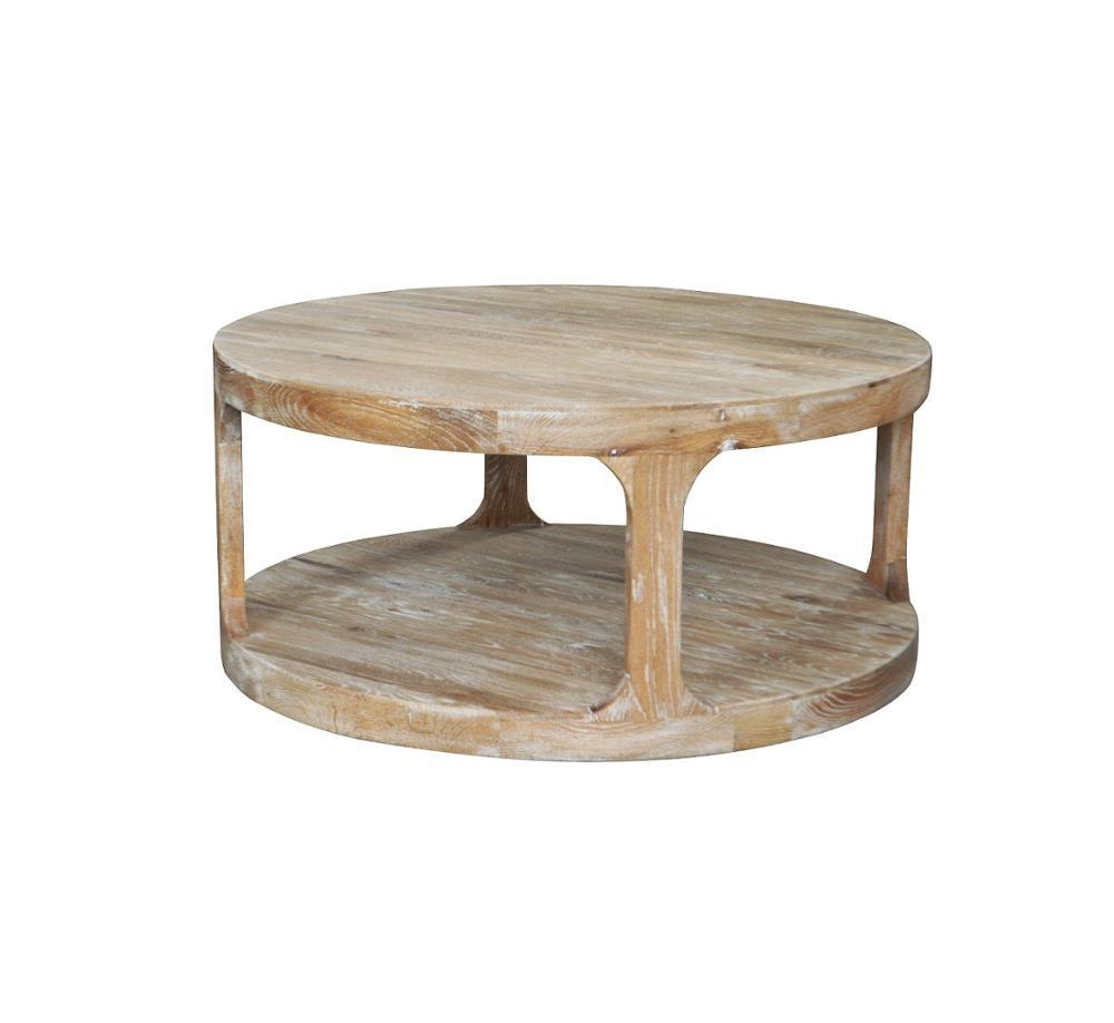 HL387-105 French-style Hand Carved Home Furniture Weathered Oak Wooden Bar Coffee Table