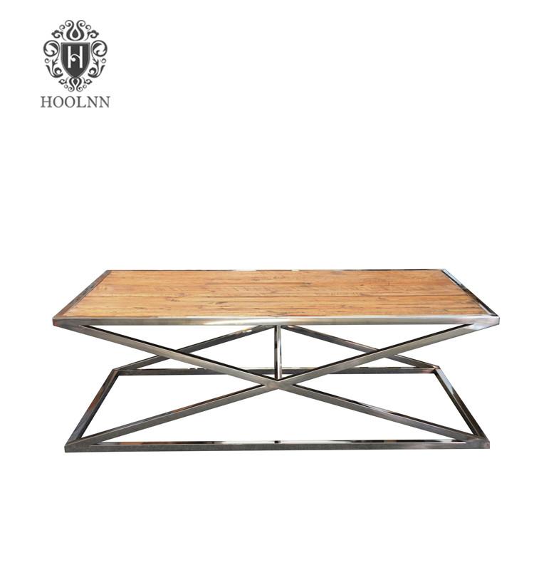 Vintage Stainless Steel Coffee Table HL168