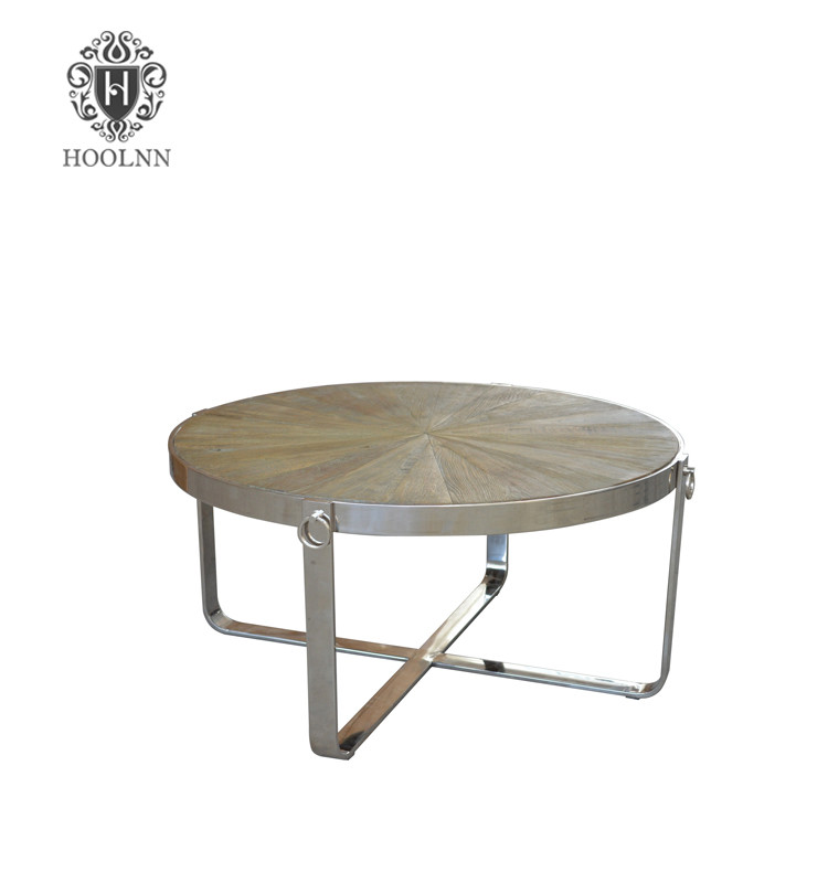 HL166 New Detachable Fat Pack Vintage Reclaimed Metal Base Wooden Outdoor Beach Bar Set Stool Round Dining Table
