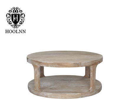 French-style Whited Washed Oak Coffee Table HL387-CS
