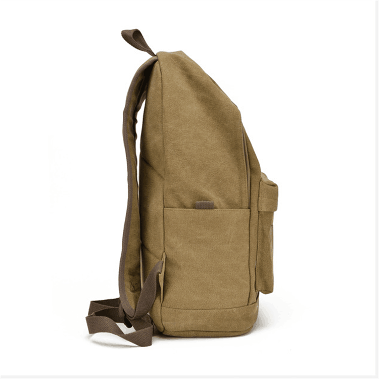 product-Osgoodway-Osgoodway Hot Sale Wear-Resisting 16oz Vintage Custom Canvas High School Backpack