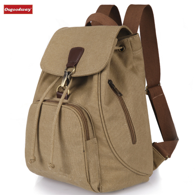 Osgoodway Hot Sale Antitheft Casual Canvas Children Backpack For Teenage Girls