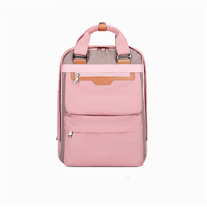 China Suppliers Newest Wholesale Korean Style Leisure Pink Girls School Bags Backpacks for women campus