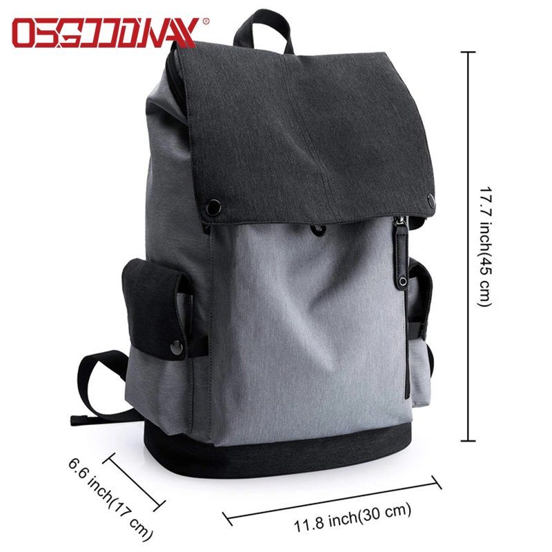 product-Osgoodway-Osgoodway Water Resistant Classic Minimalist Style School Travel Backpack Bag for