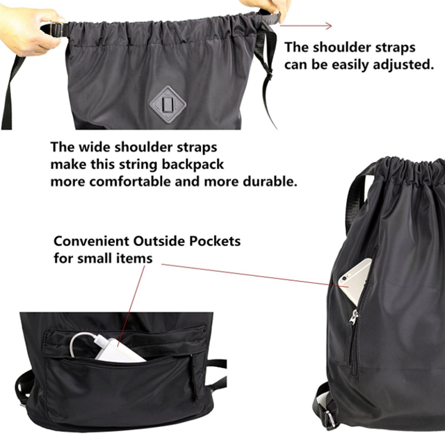 product-Osgoodway-Osgoodway China Wholesale Custom Waterproof Unisex Drawstring Backpack Sport Rucks