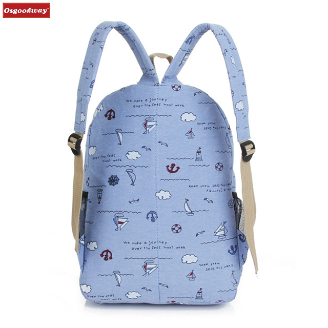 product-Osgoodway-Osgoodway Korean Style Fashion Wholesale Canvas Bag School Rucksack Backpack for S