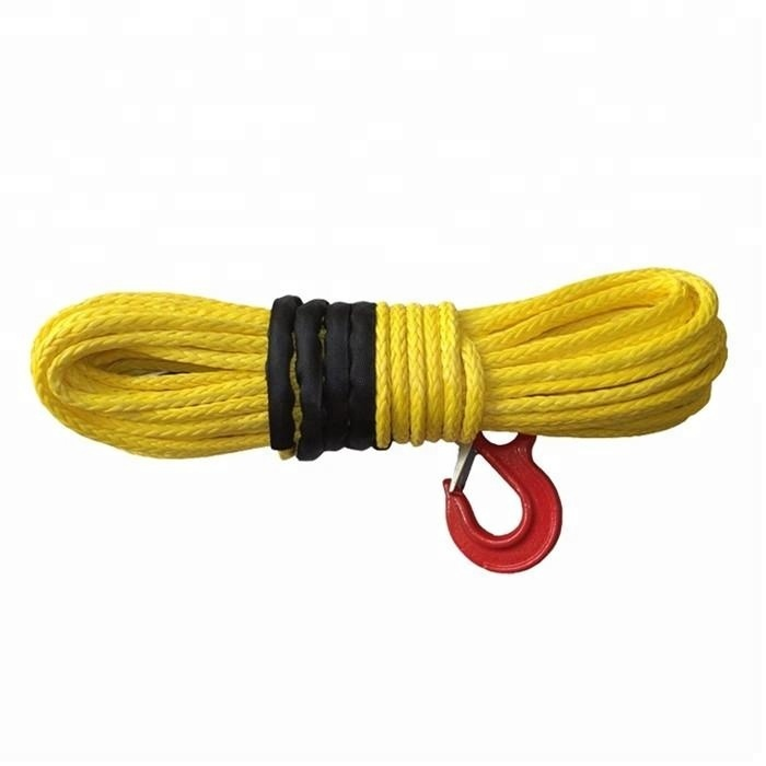 High performance customized package and size UHMWPE braided rope tow rope for winch or sailing