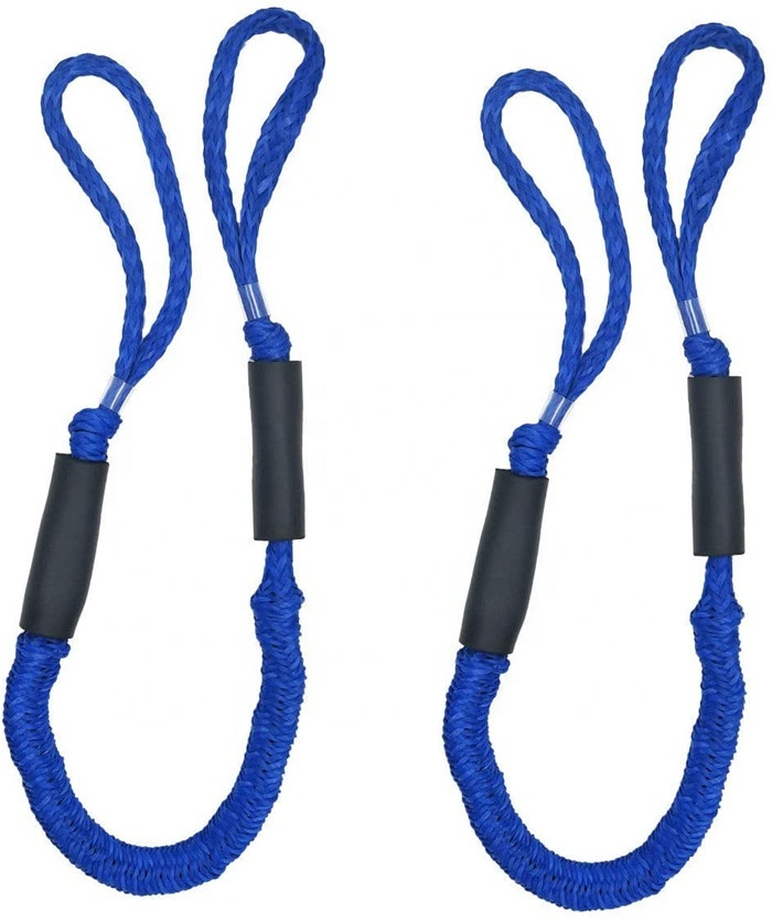 Top lever PWC bungee marine dock line for boat