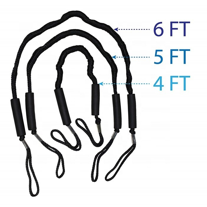 high quality 4ft 5ft 6ft bungee dock line mooring rope for boat
