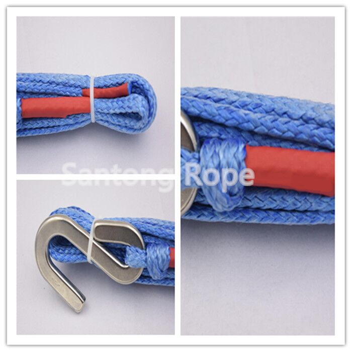 8 strand or 12 strand high tensile UHMWPE winch rope