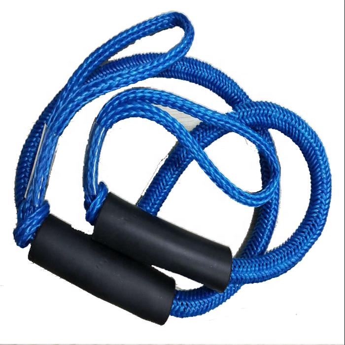bungee dock line hollow braid polyethylene bungee cord inside dock line