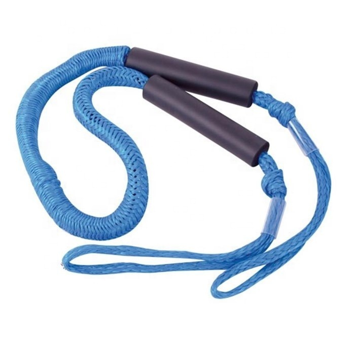 Highly elastic PE cover bungee cord dock line