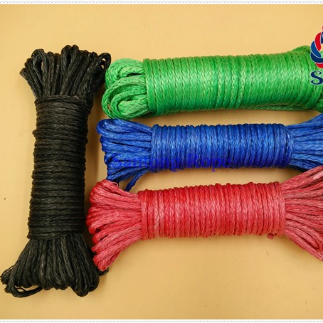 High performance customized package and size UHMWPE braided rope tow rope lifting ropefor winch, gliding, or sailing