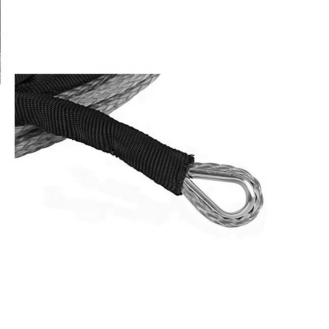 amazon 3/8 inch UHMWPE winch rope with thimble