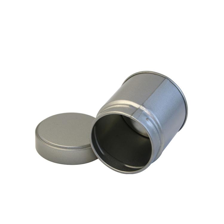 Wholesale silver round metal screw top spice tin box