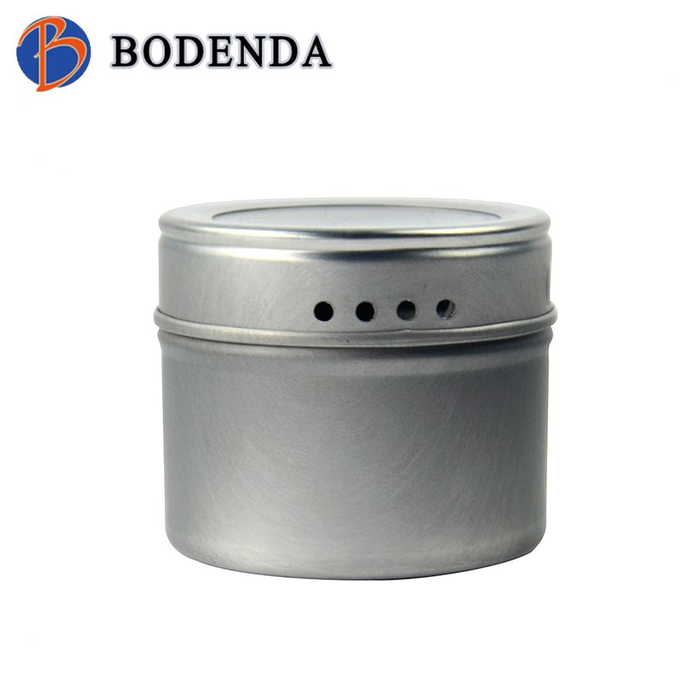 spice shaker tin,metal spice container,roun spice tin