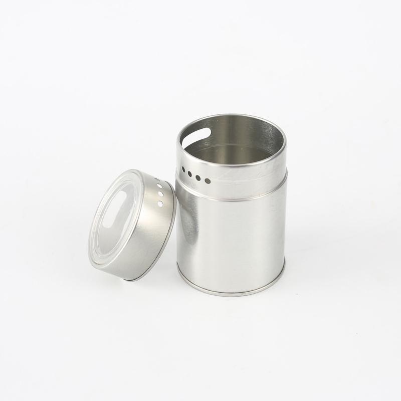 Gold supplier wholesales round spice metal tin box withwindow