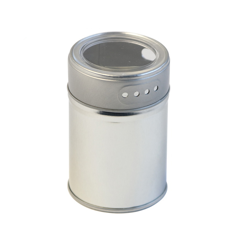 Wholesaleround metal condiment spicetin container with holes