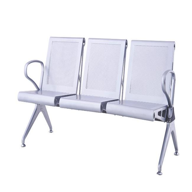 triangle metal waiting chair public airport waiting sofa steel hospital waiting bench