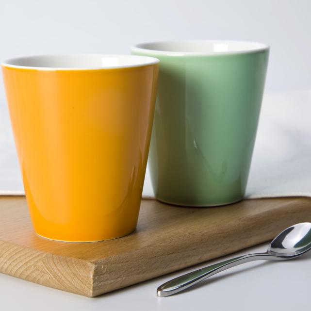 Wholesale coffee shop porcelain color cup mug cup unhandled