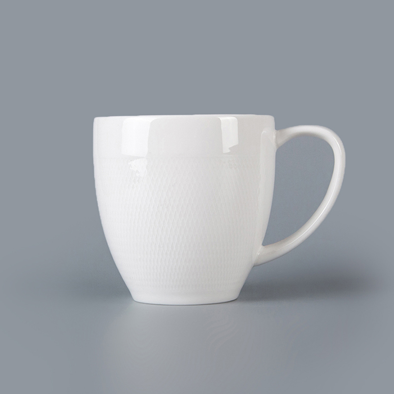 Best Seller Restaurant Hotel Supplies Tableware White Stoneware Mug Chaozhou, Ceramic Coffee Mug Chaozho Wholesale Custom