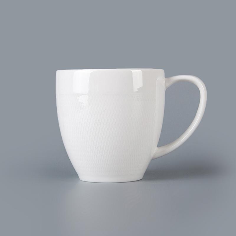 Best Seller Restaurant Hotel Supplies Tableware White Stoneware Mug Chaozhou, Ceramic Coffee Mug Chaozho Wholesale Custom