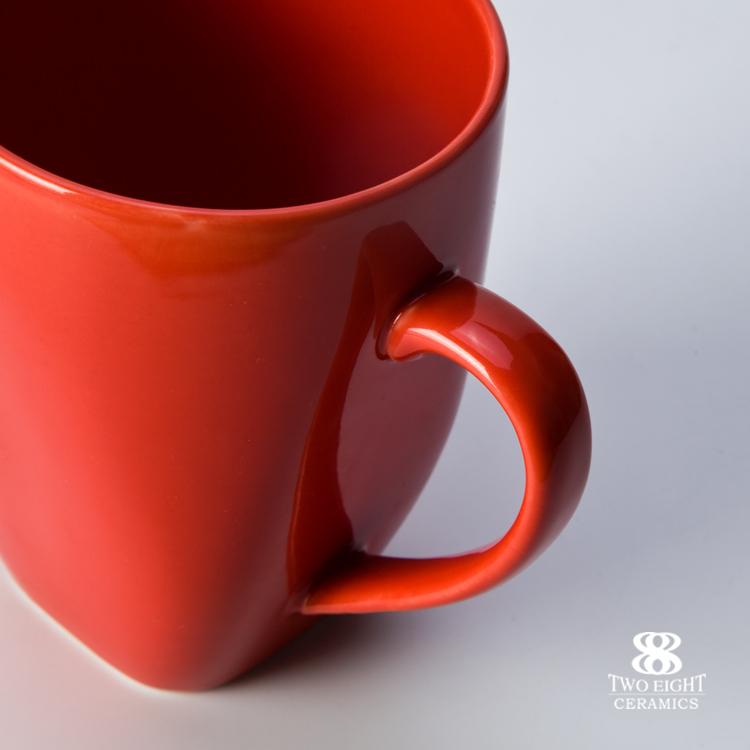 Foshan ceramic square mug, custom mugs